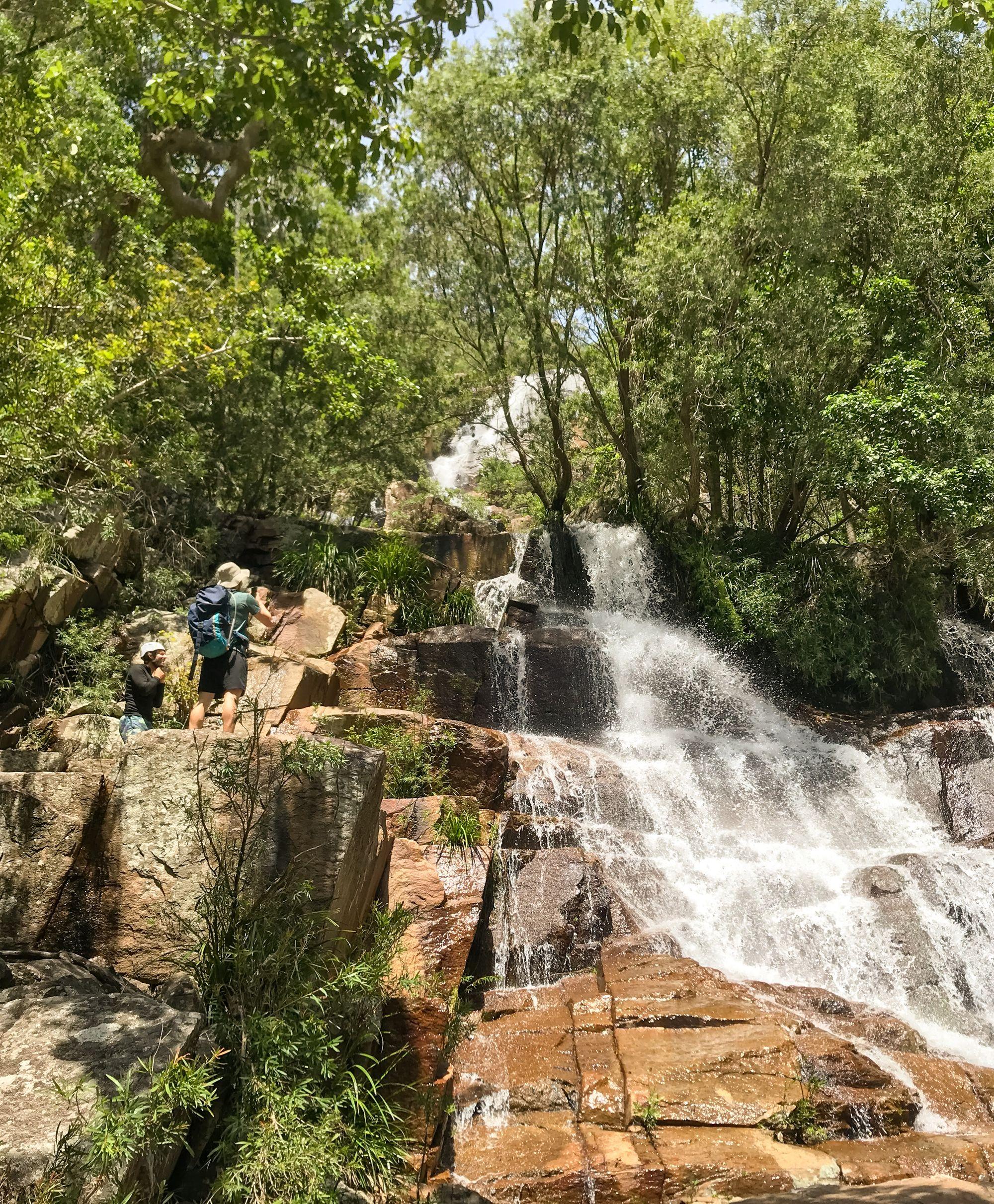 cascading waterfalls bowling green bay national parks