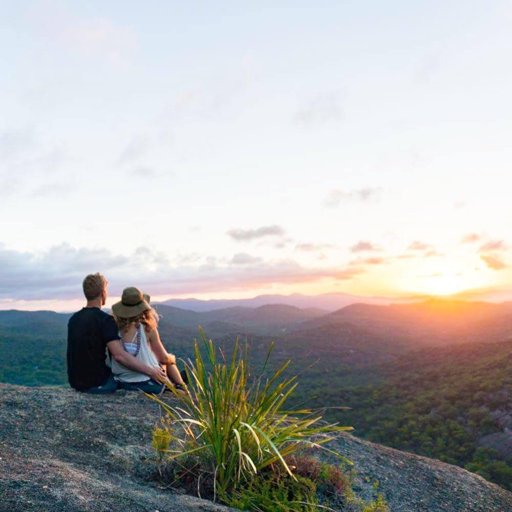 Sunset at Girraween National Park with Anna Lansing and Luen Warneke
