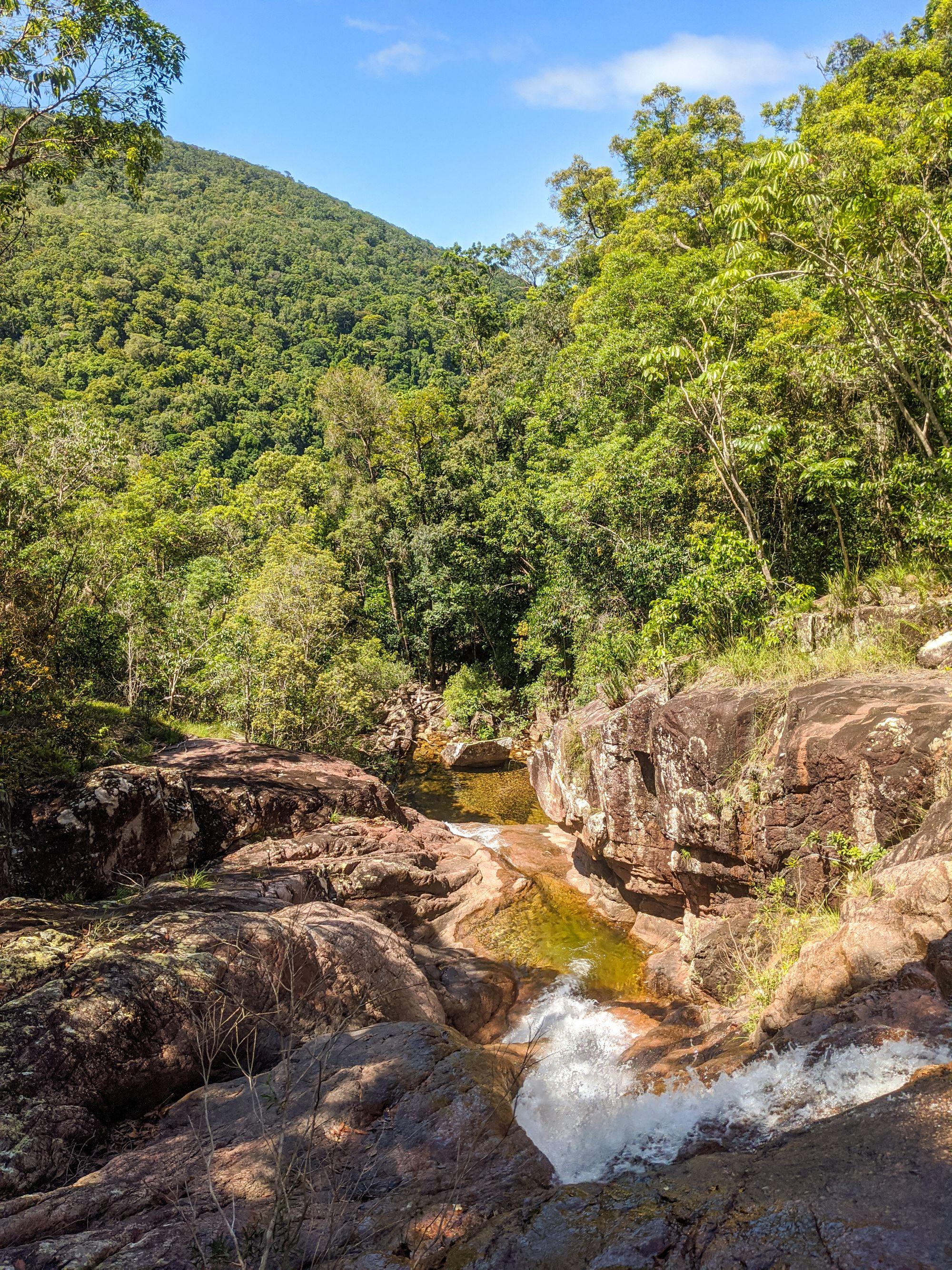 upper bullocky toms creek cascades