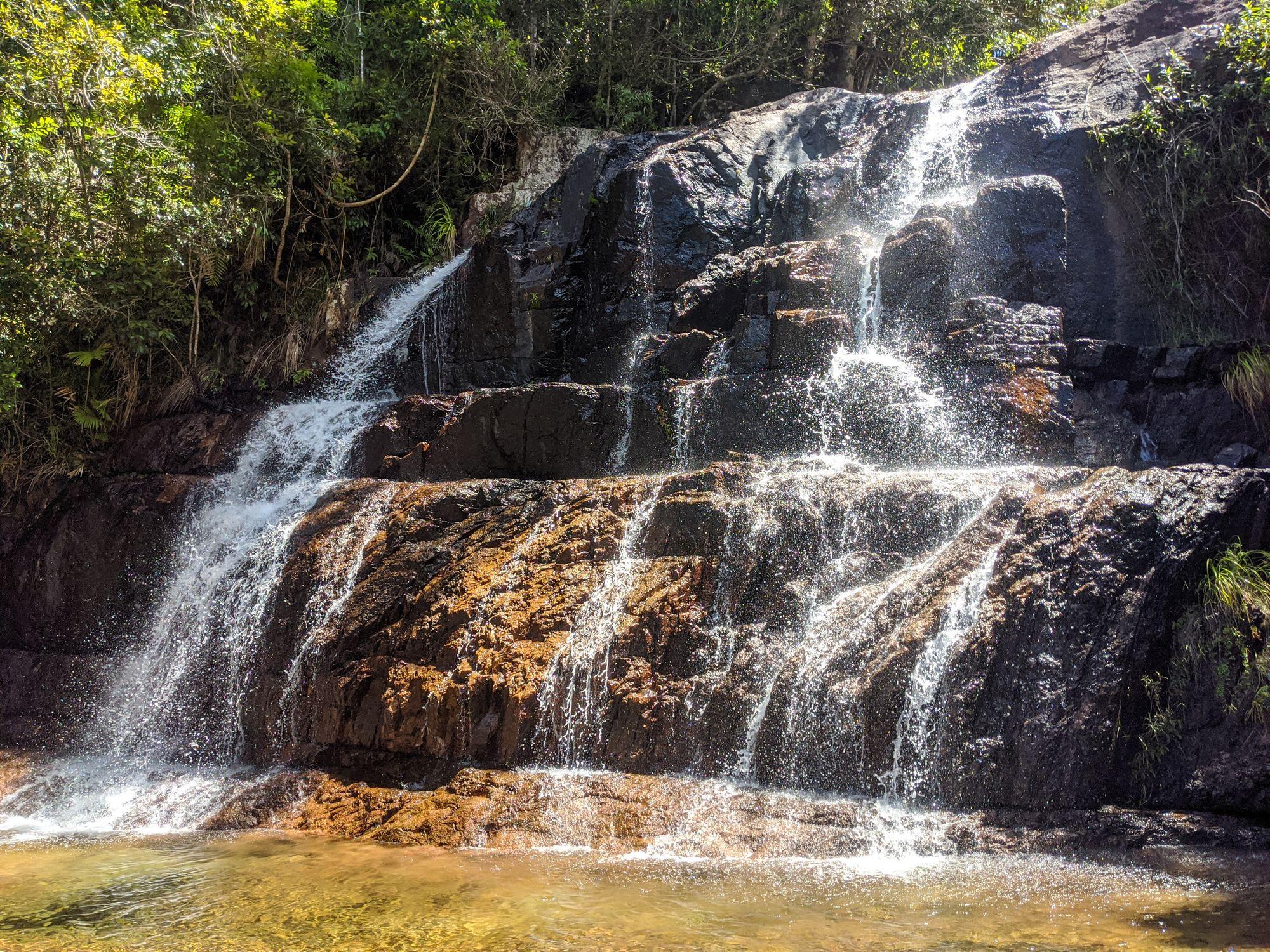 upper bullocky toms creek waterfall