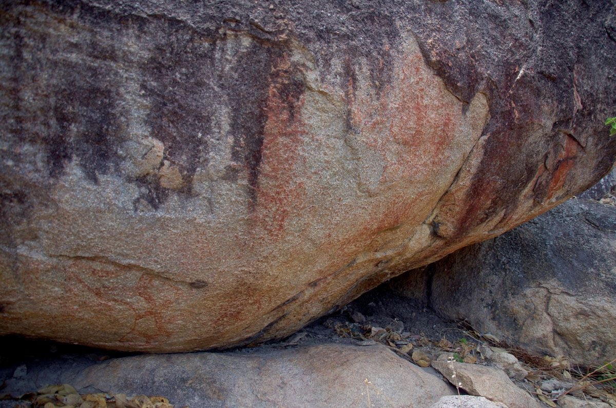 Mt Burrumbush aboriginal rock art