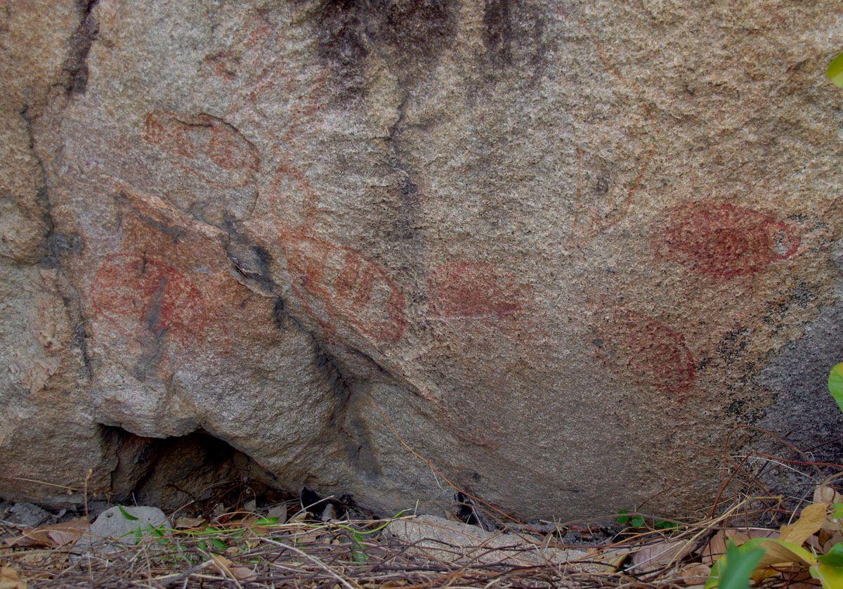 Mt Burrumbush aboriginal rock paintings
