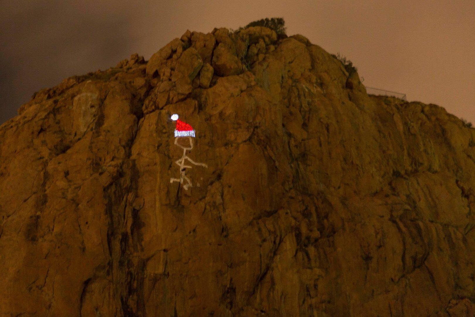 castle hill the saint christmas hat illuminated