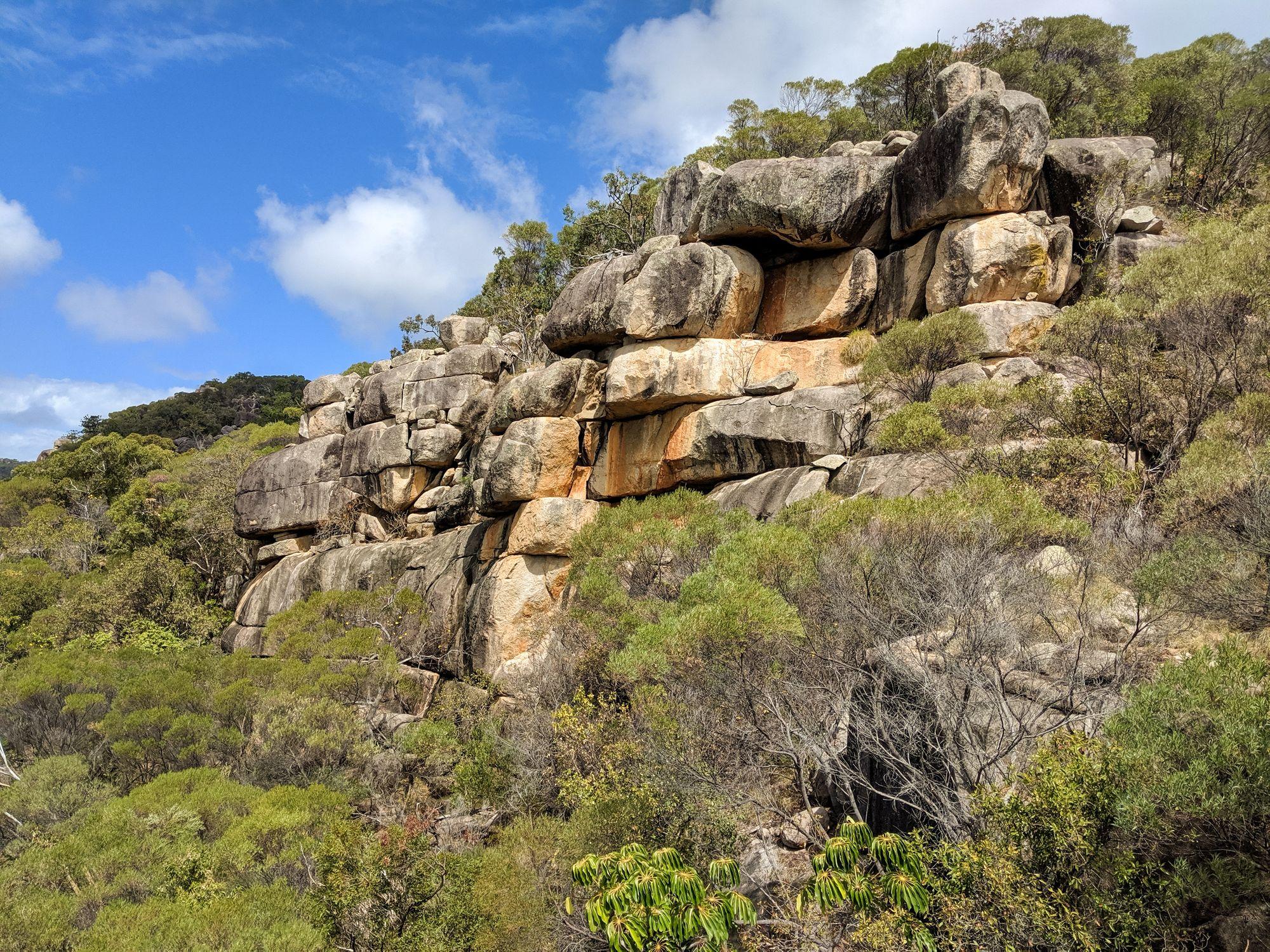 magnetic island rocks