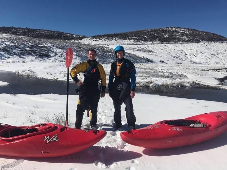 whitewater kayaking snow