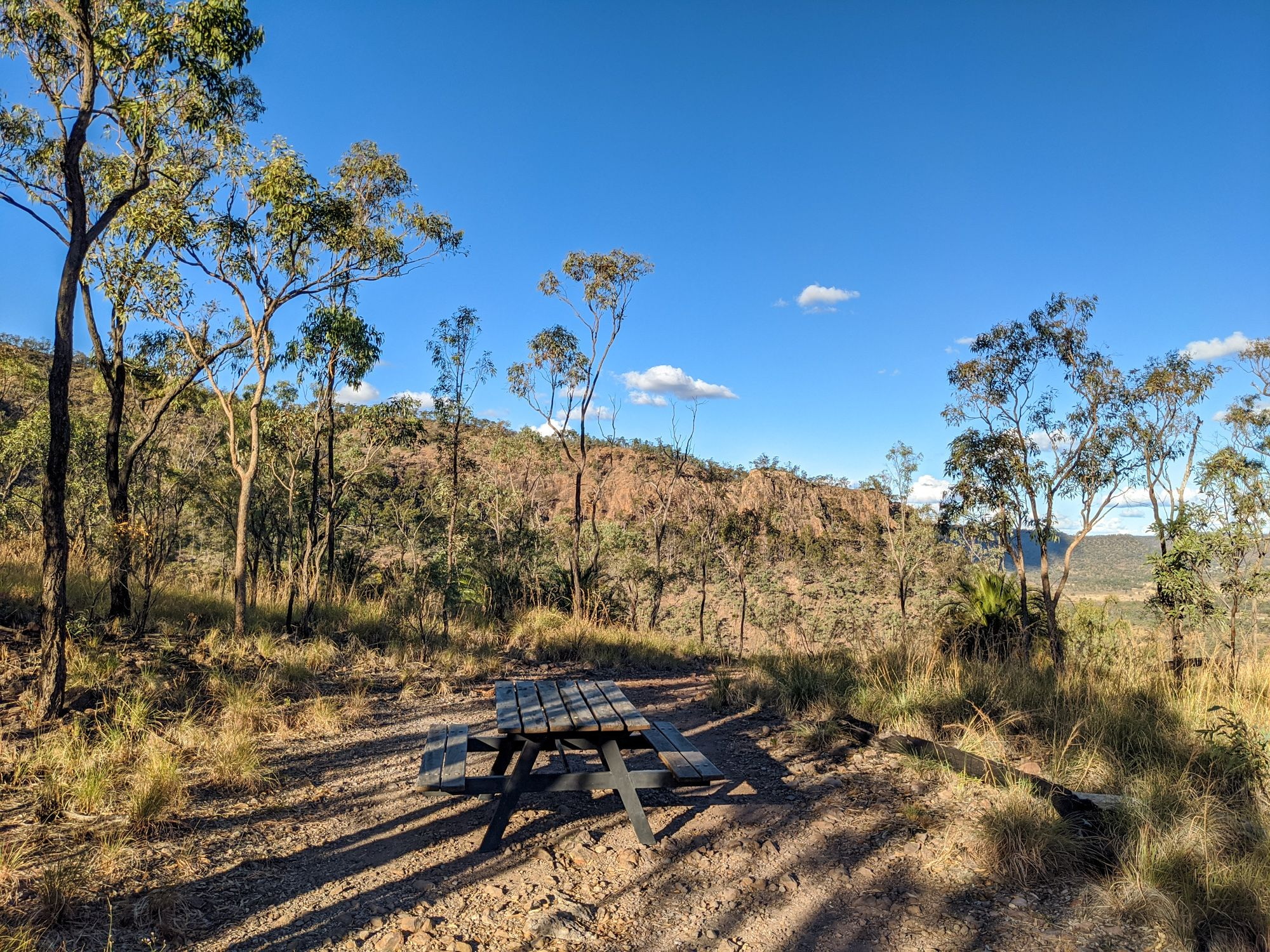 Springsure Lookout picnic table