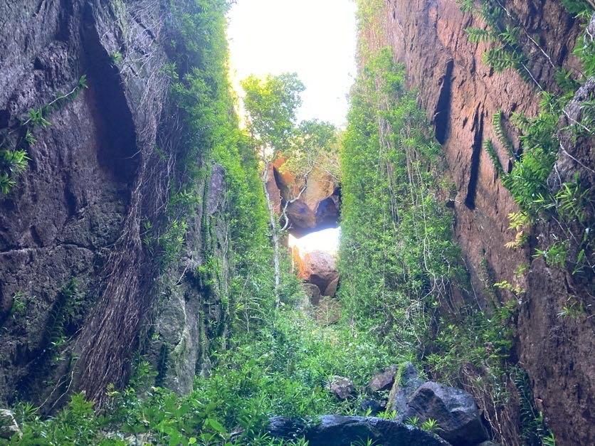 nina creek rock fall hinchinbrook island