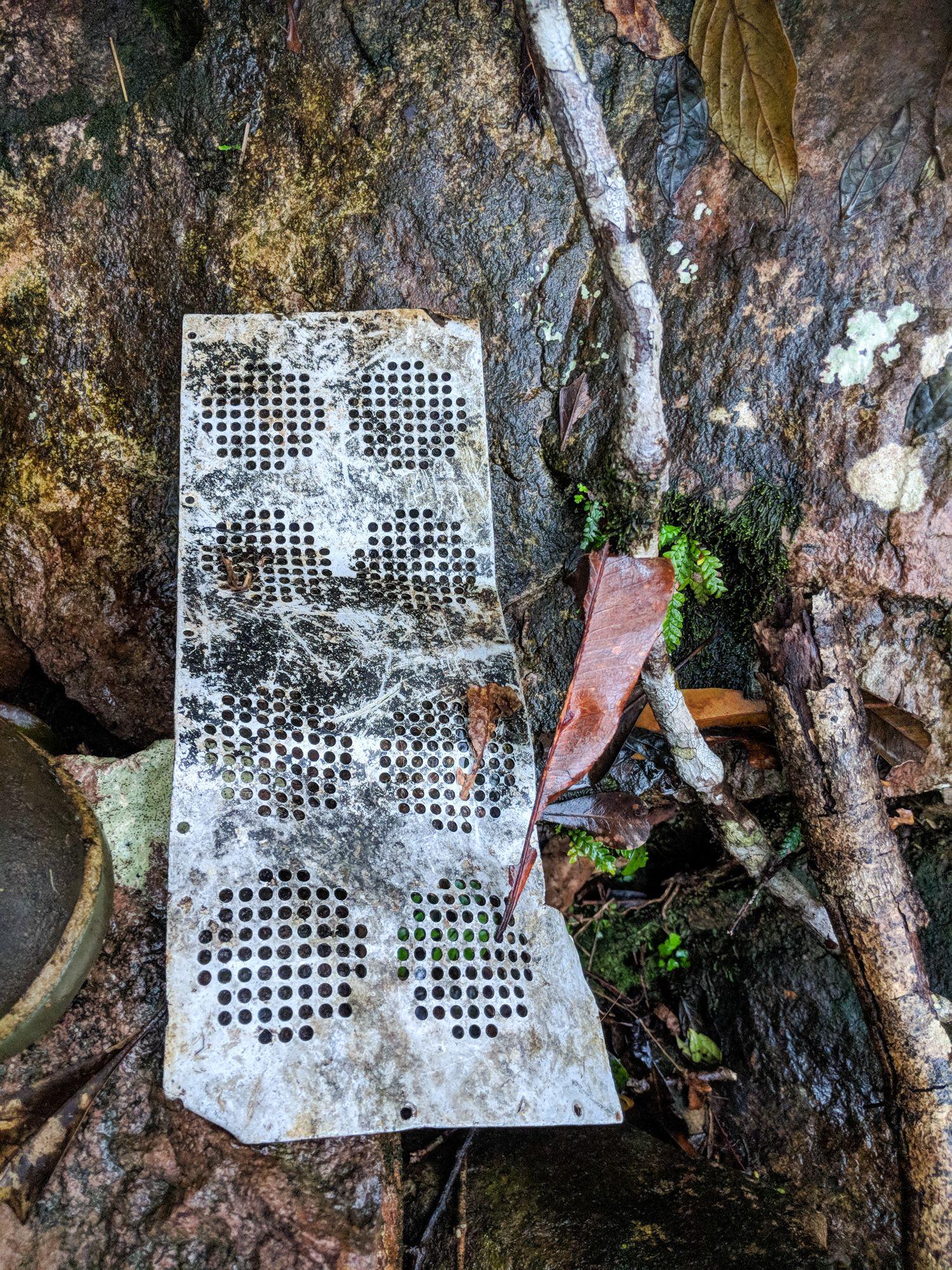 plane wreckage metal grid mt straloch