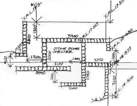 stone buildings shelter ruins layout plan townsville