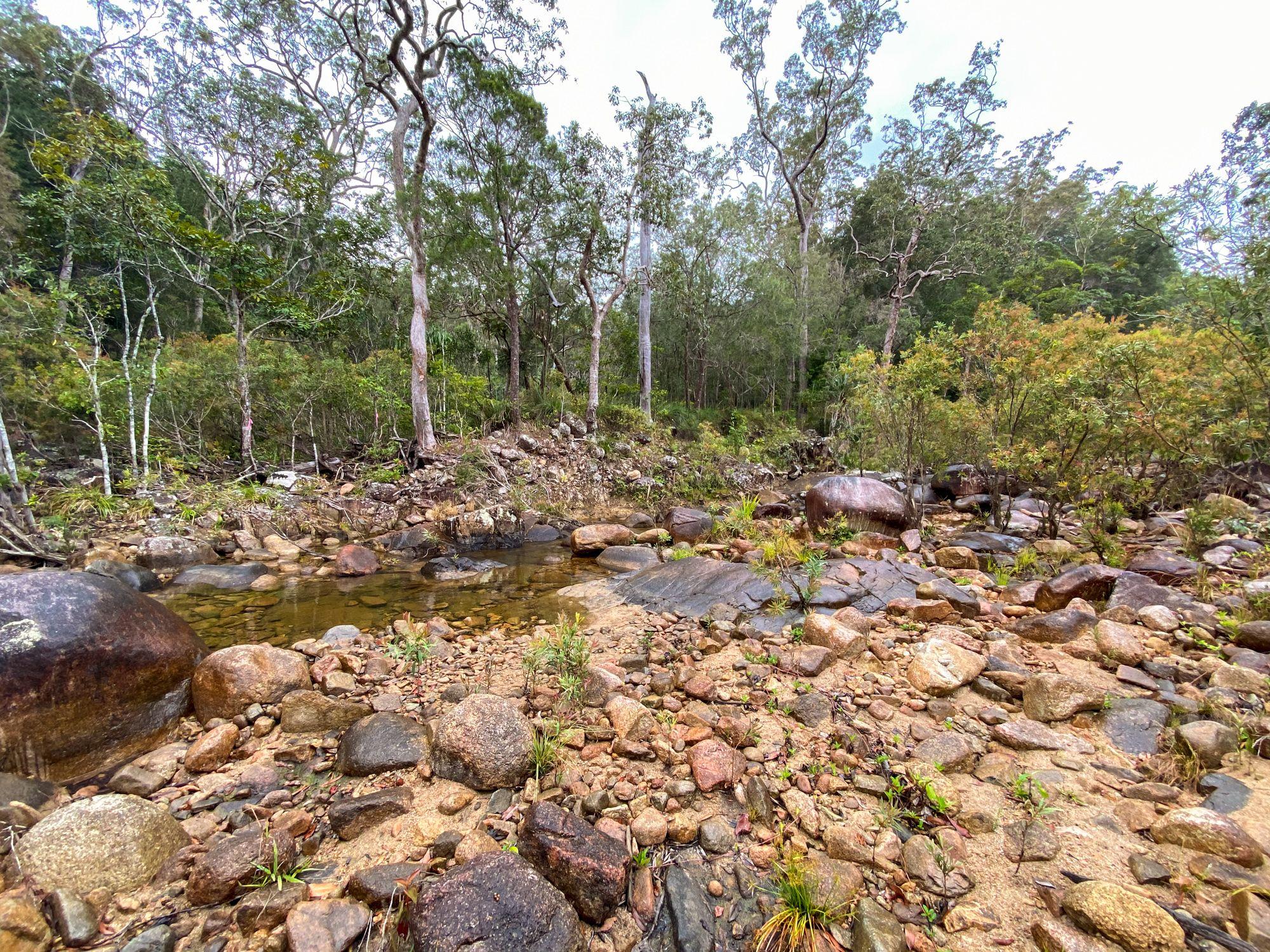 bluegum creek rock bed