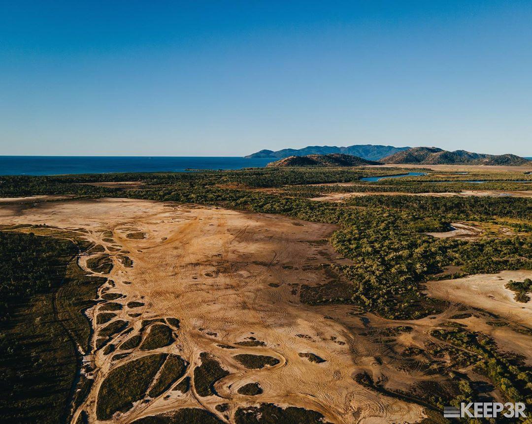 bushland beach salt flats