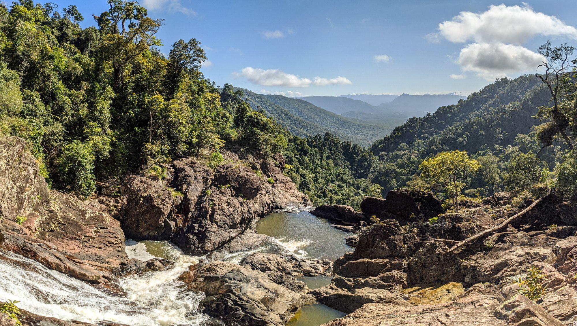 Top of Garrawalt Falls