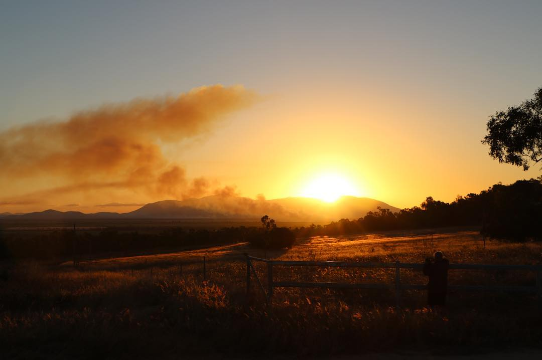sunset over burdekin region