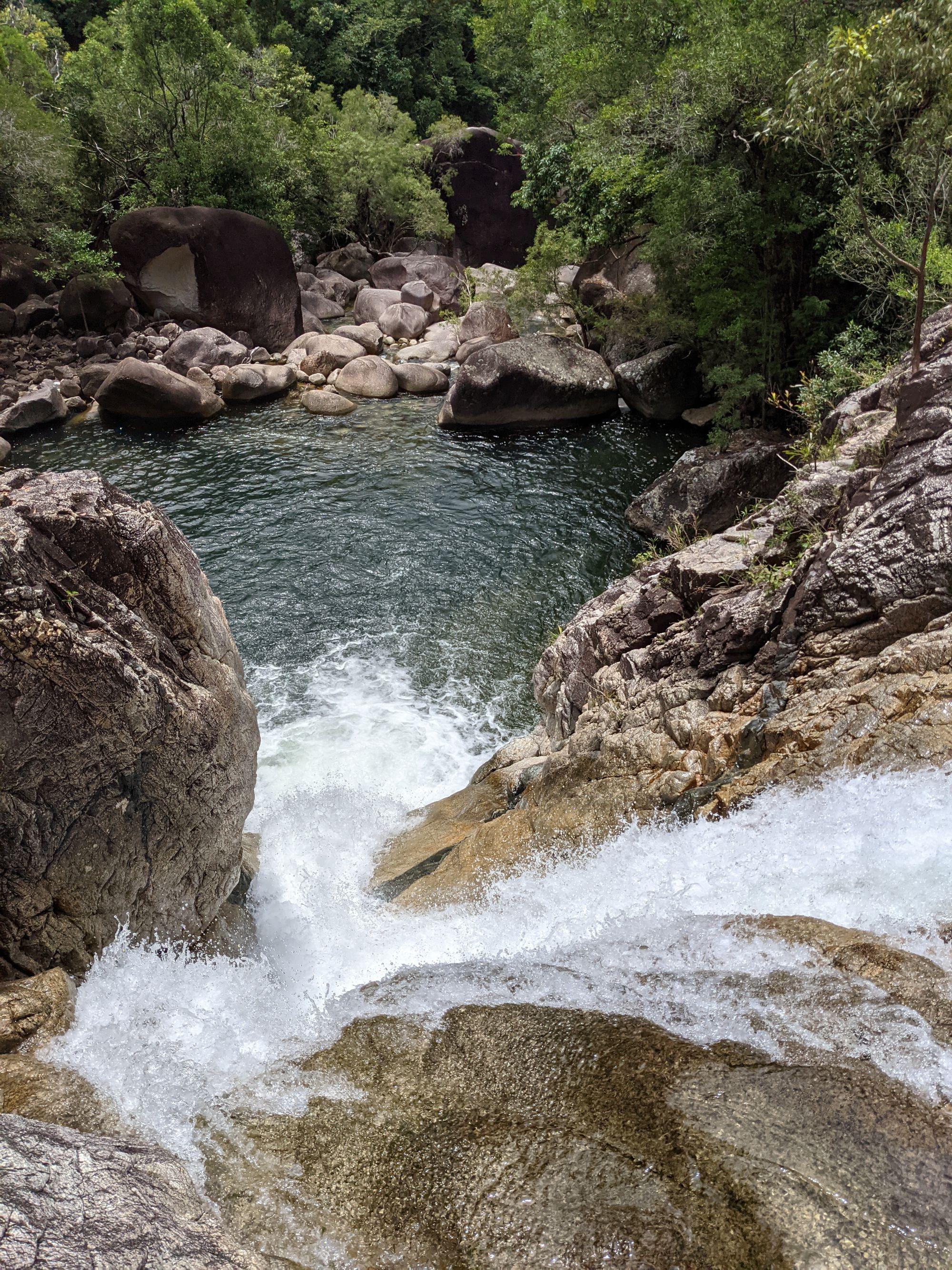 Lower Ethel Creek waterfall top