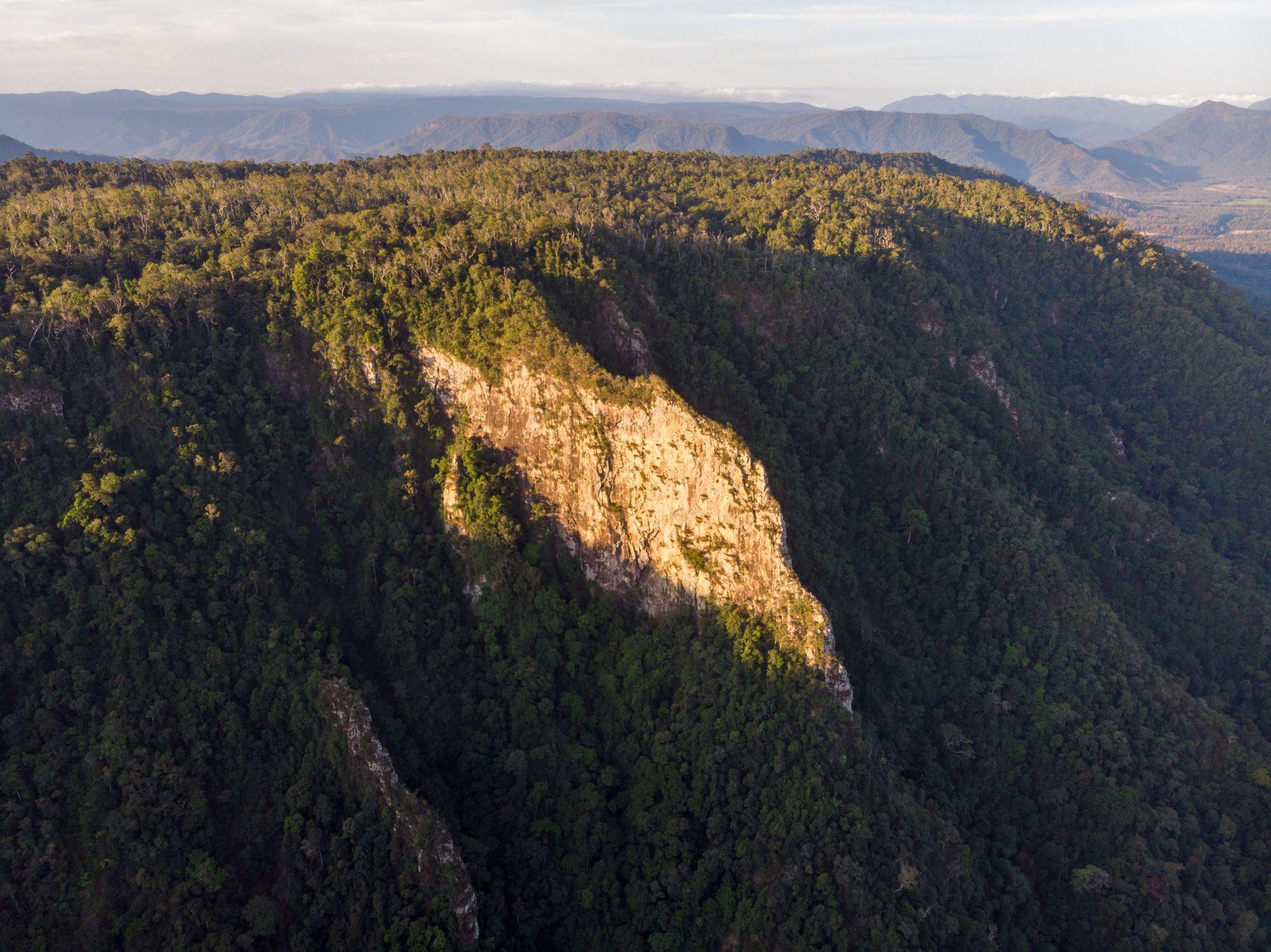 cliff near flagstone creek