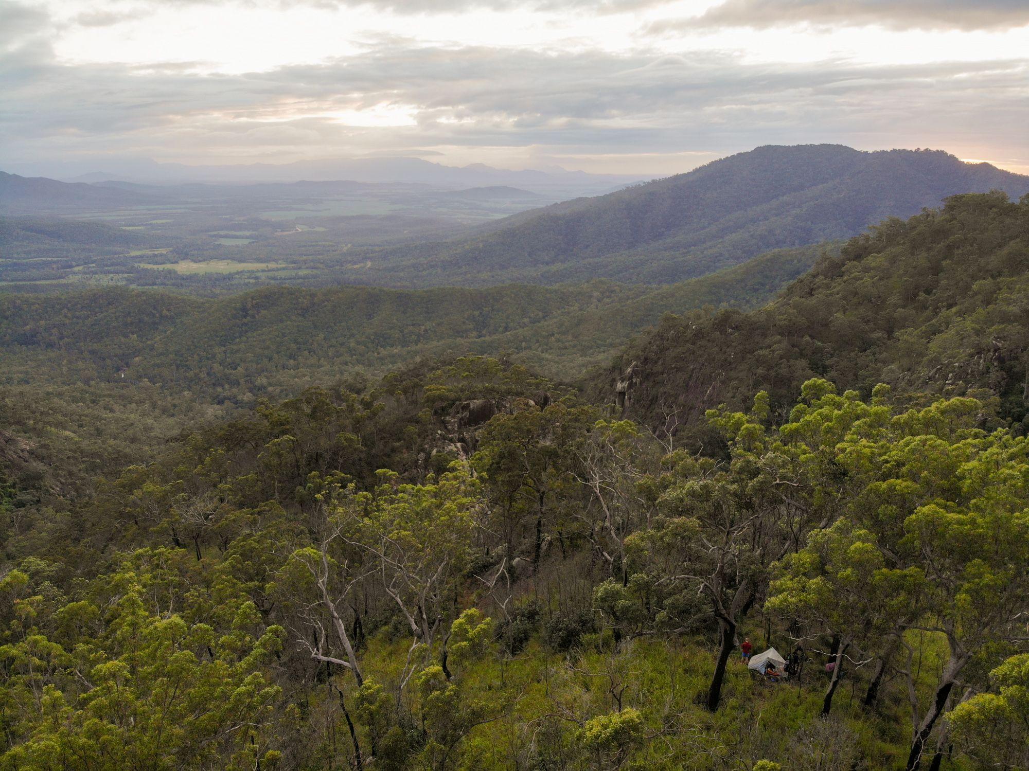disaster creek campsite view