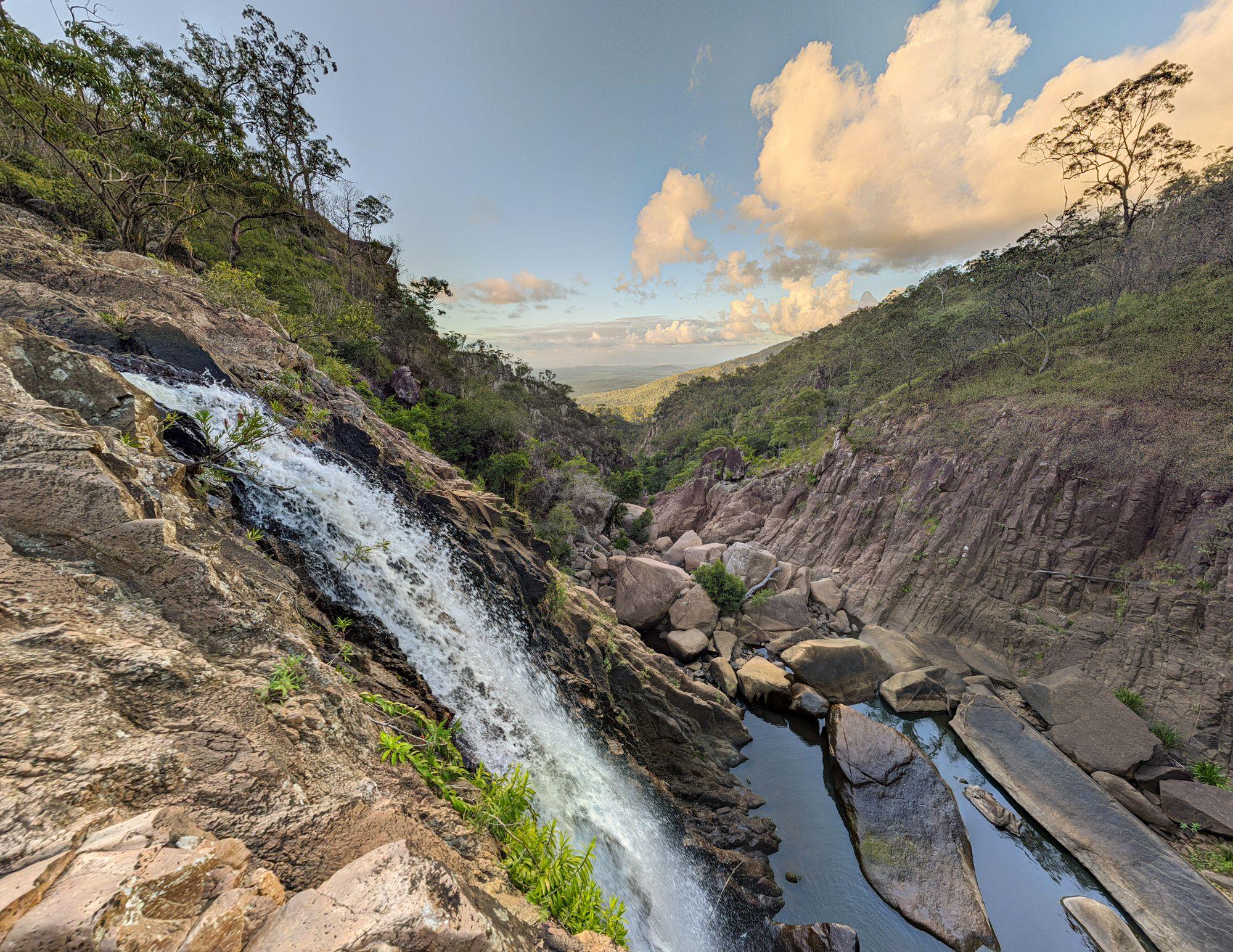 disaster creek falls top