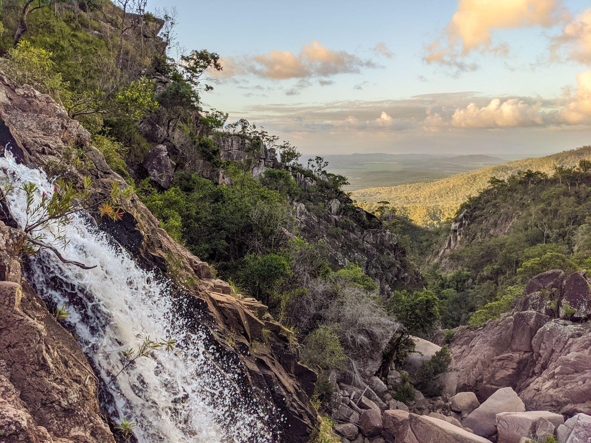 disaster creek waterfall top