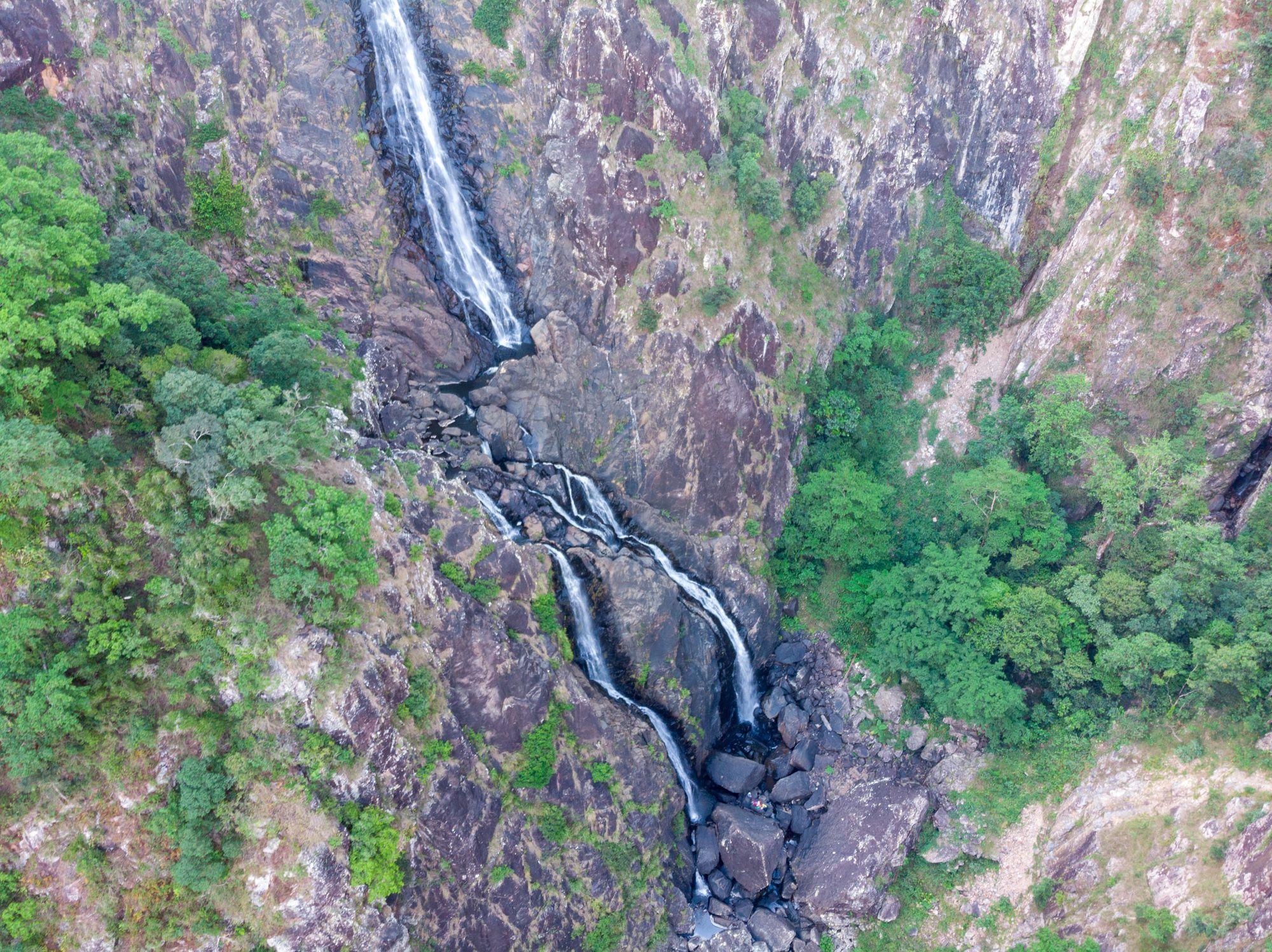 flagstone creek falls bottom drone