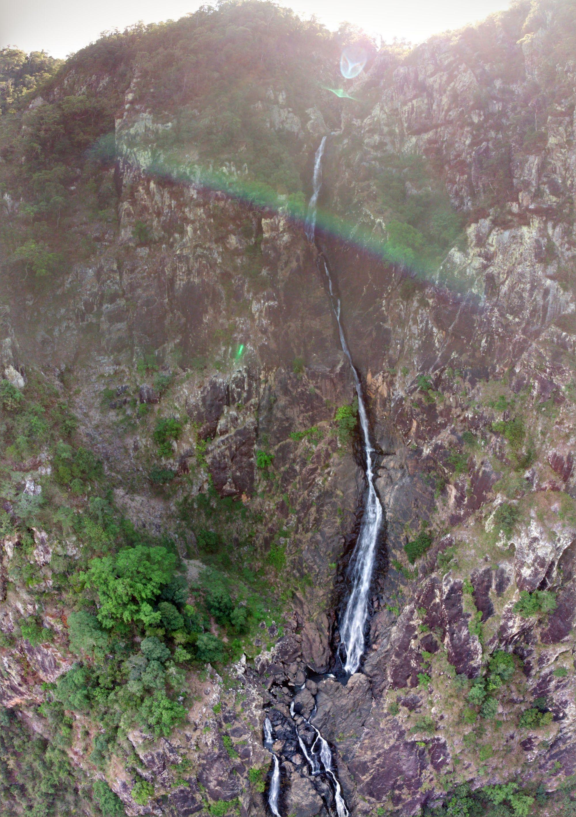 flagstone creek falls pano