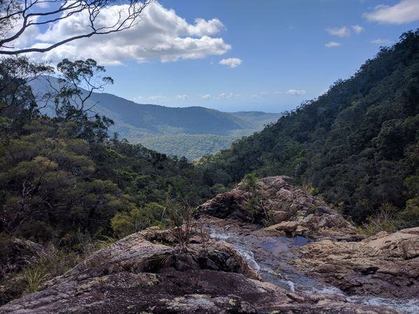 Rock hopping up Cloudy Creek